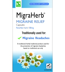 MigraHerb - MHRA registered herbal medicine from Schwabe Pharma